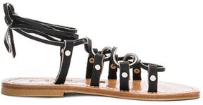 K. Jacques Leather Chauvet Sandals in Black.