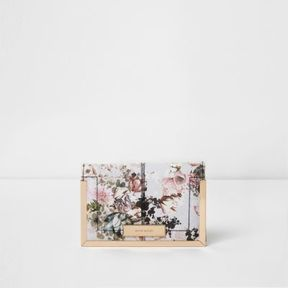 River Island Womens Cream floral print passport holder