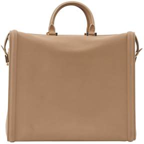 Victoria Beckham Beige Leather Travel Bag