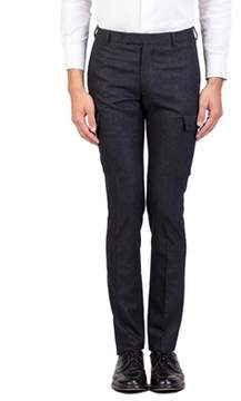 Christian Dior Virgin Wool Pinstriped Cargo Trouser Pants Charcoal Grey.