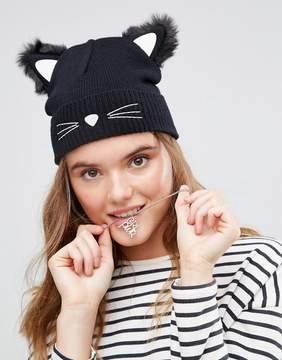 Asos Cat Ears Beanie With Glow In The Dark Yarn