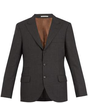 Brunello Cucinelli Single-breasted wool blazer