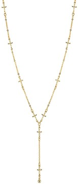 1928 14k Gold-Plated Cross Y Necklace