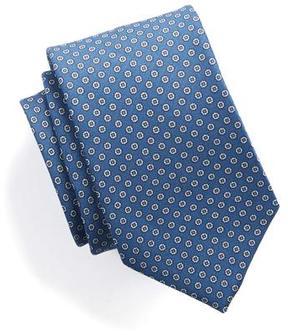 Drakes Drake's Silk Foulard Dot Tie in Blue