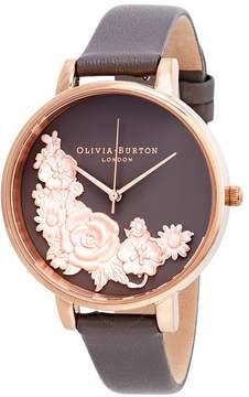 Olivia Burton Floral Bouquet Grey Dial Ladies Watch