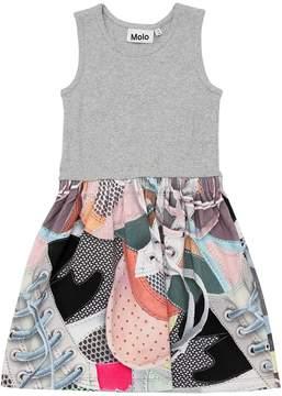 Molo Cotton Rib Jersey & Interlock Dress