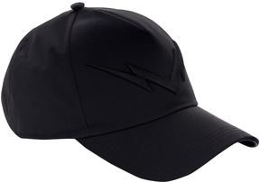 Neil Barrett Mirrored Lightning Bolt Baseball Cap