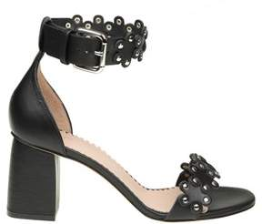 RED Valentino Women's Black Leather Sandals.