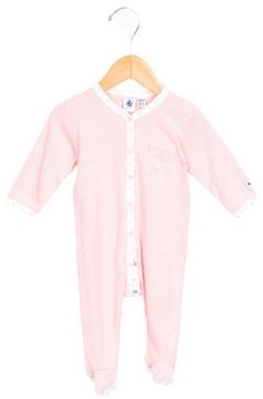 Petit Bateau Girls' Striped All-In-One