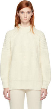 LAUREN MANOOGIAN SSENSE Exclusive Off-White Fisherwoman Sweater