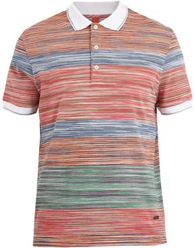 Missoni Contrasting striped-knit cotton polo shirt