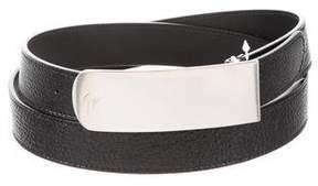 Giuseppe Zanotti Plated Leather Belt w/ Tags