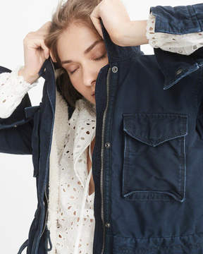 Abercrombie & Fitch Sherpa-Lined Shirt Jacket