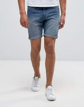 Cheap Monday Sonic Shorts Blue Seed Wash