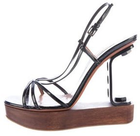 Alaia Patent Leather Sandals