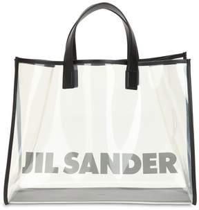 Jil Sander Logo Printed Tote Bag