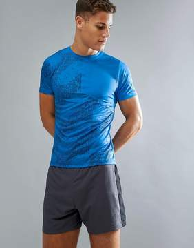 Asics Lite Show Running Top In Blue 146617-1186