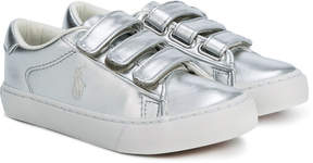 Ralph Lauren metallic logo sneakers