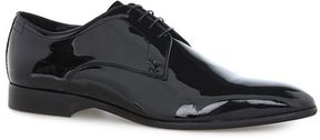 Topman Black Patent Leather Derby Shoes