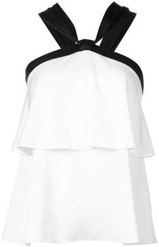 Rachel Zoe sleeveless flared contrast top
