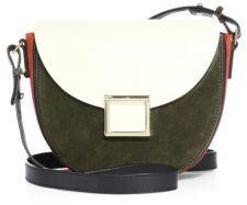 Jason Wu Mini Jaime Two-Tone Leather Saddle Bag