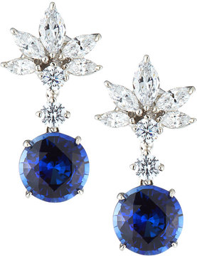 FANTASIA Marquise Cluster Cubic Zirconia & Synthetic Sapphire Earrings