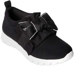 Dolce & Gabbana Logo Bow Neoprene Slip-On Sneakers
