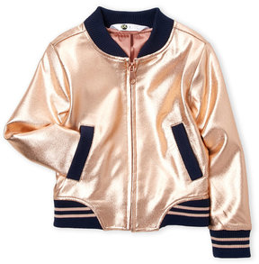 Petit Lem Toddler Girls) Metallic Bomber Jacket