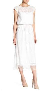 Eliza J Estended Shoulder Blouson Dress