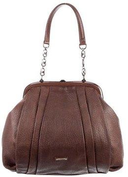 Moschino Pebbled Leather Frame Shoulder Bag