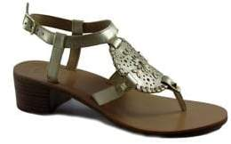 Jack Rogers Gretchen Rondelle Laser-Cut Leather Sandals