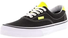 Vans Era 59 Neon Leather Black / Yellow Ankle-High Canvas Skateboarding Shoe - 8.5M 7M