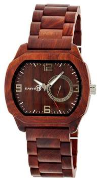 Earth Scaly Collection ETHEW2103 Unisex Wood Watch with Wood Bracelet-Style Band