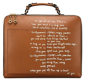 Tory Burch Arthur Script Large Briefcase - MAPLE SYRUP - STYLE