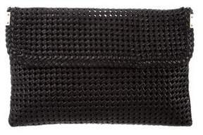 Stuart Weitzman Woven Leather Clutch