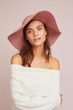 Anthropologie Blush Floppy Hat
