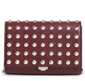Michael Kors Yasmin Studded Leather Clutch - Red - RED - STYLE