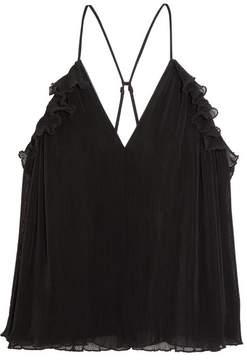 Alice McCall Lady Be Good Ruffled Plissé Cotton-blend Camisole - Black