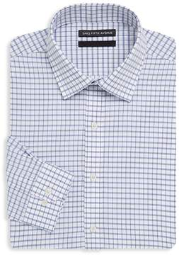 Saks Fifth Avenue BLACK Men's Windowpane Cotton Dress Shirt