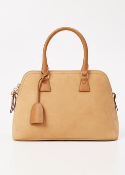 Maison Margiela camel small suede 5ac handbag