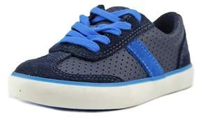 Clarks Club Walk Toddler W Round Toe Leather Blue Sneakers.