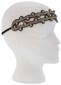 Pink Pewter Gold and Black Stretch Headband