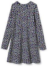 Lands' End Little Girls Knit Twirl Dress-Multi Leopard Print