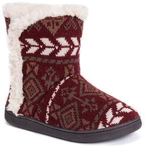 Muk Luks Women's Cheyenne Knit Boot Slippers