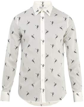 Alexander McQueen Dancing Skeleton-print cotton shirt