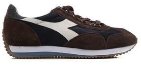 Diadora Heritage Men's Brown Suede Sneakers.