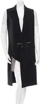 Anthony Vaccarello Virgin Wool Knee-Length Vest