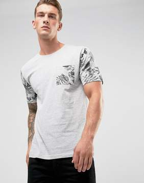 ONLY & SONS T-Shirt with Contrast Sleeve and Pocket