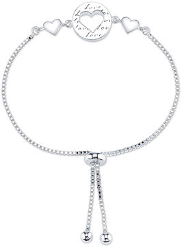 Footnotes Womens Sterling Silver Bolo Bracelet