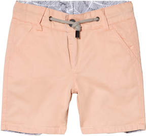 Ikks White and Black Leaf Print Shorts Reversible into Apricot